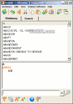 LingvoSoft Dictionary 2009 English <-> Albanian Screenshot