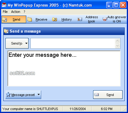My WinPopup Express Screenshot 3