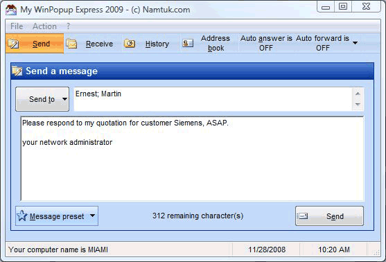 My WinPopup Express Screenshot 1