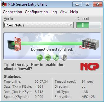 NCP Secure Entry Client for Win32/64 Screenshot 3