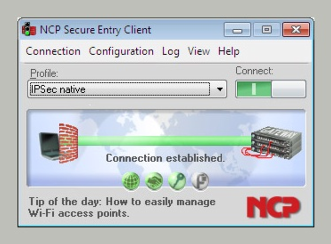 NCP Secure Entry Client for Win32/64 Screenshot 1
