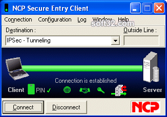 NCP Secure Entry Client for Win32/64 Screenshot 2