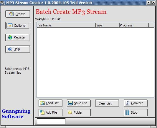 MP3 Stream Creator Screenshot 1