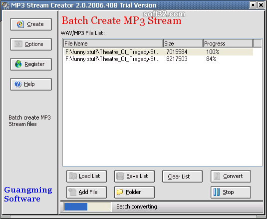 MP3 Stream Creator Screenshot 2