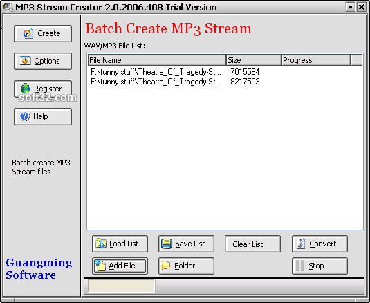 MP3 Stream Creator Screenshot 3
