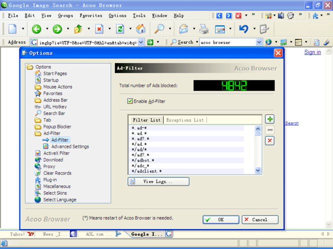 Acoo Browser Screenshot 1