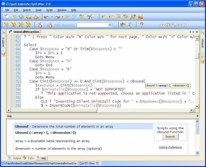 Admin Script Editor Screenshot 2