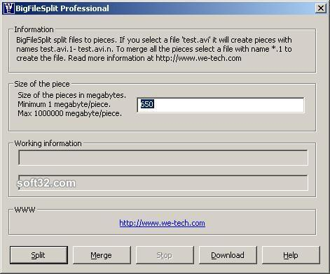 BigFileSplit Professional Screenshot