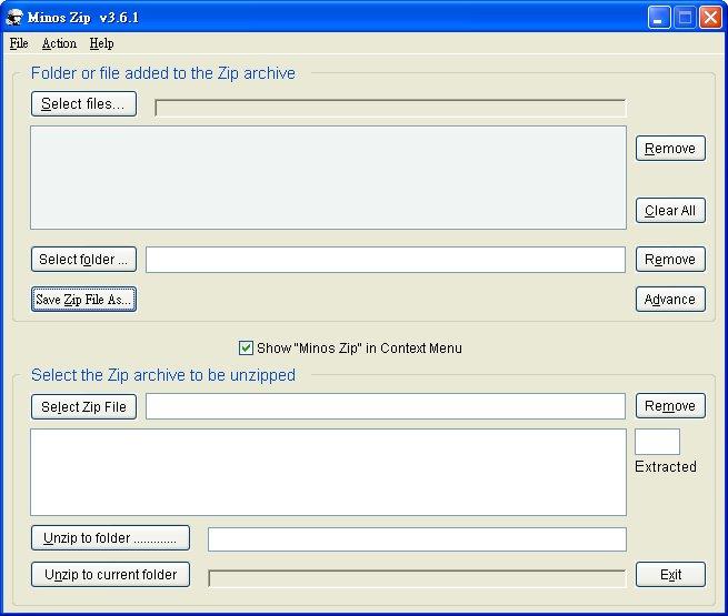 Minos Zip Screenshot