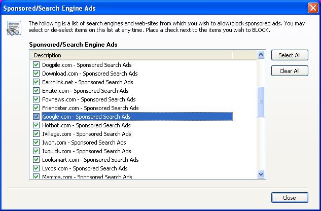 Sponsored Ad Blocker Screenshot 1