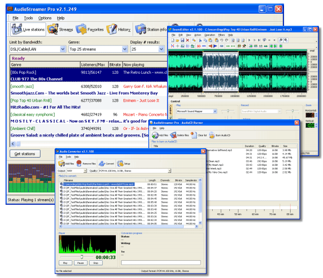AudioStreamer Pro Screenshot