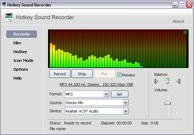 Hotkey Sound Recorder Screenshot 1