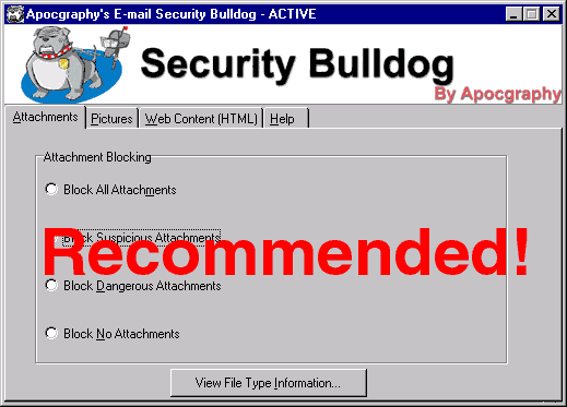 Email Security Bulldog Screenshot
