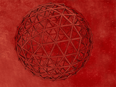 Geodesic Red 3D Screensaver Screenshot