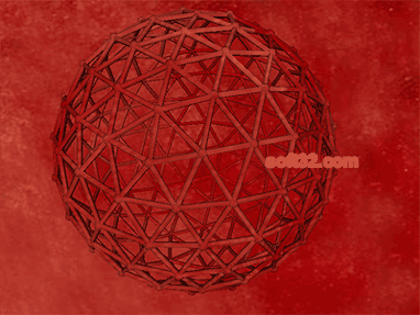Geodesic Red 3D Screensaver Screenshot 3