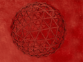 Geodesic Red 3D Screensaver 1