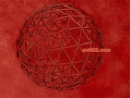 Geodesic Red 3D Screensaver 3
