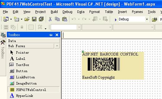 EaseSoft PDF417 Barcode ASP.NET Control Screenshot