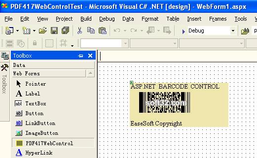 EaseSoft PDF417 Barcode ASP.NET Control Screenshot 3