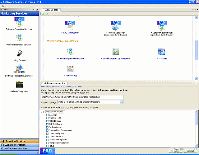 Software Promotion Toolkit Screenshot