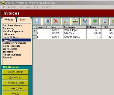 Golden Inventory System Screenshot 1