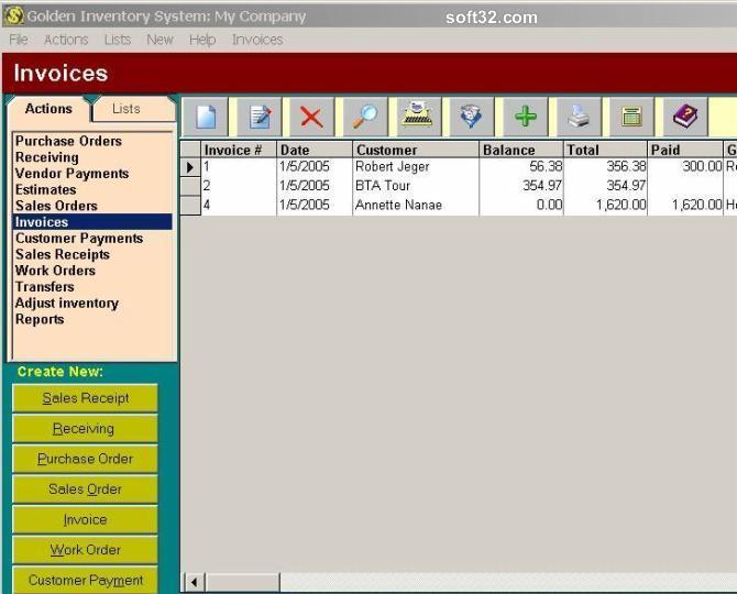 Golden Inventory System Screenshot 3