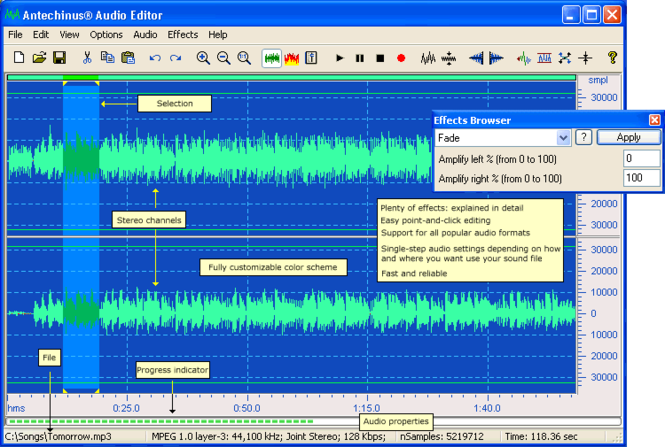 Antechinus Audio Editor Screenshot 1
