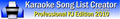 Karaoke Song List Creator Free Edition 1