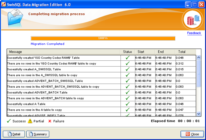 SwisSQL - Data Migration Tool Screenshot