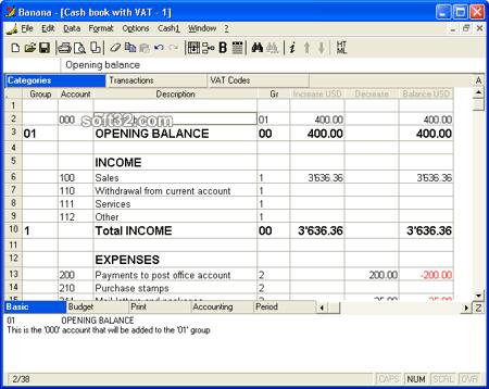 Banana Cashbook Screenshot 2