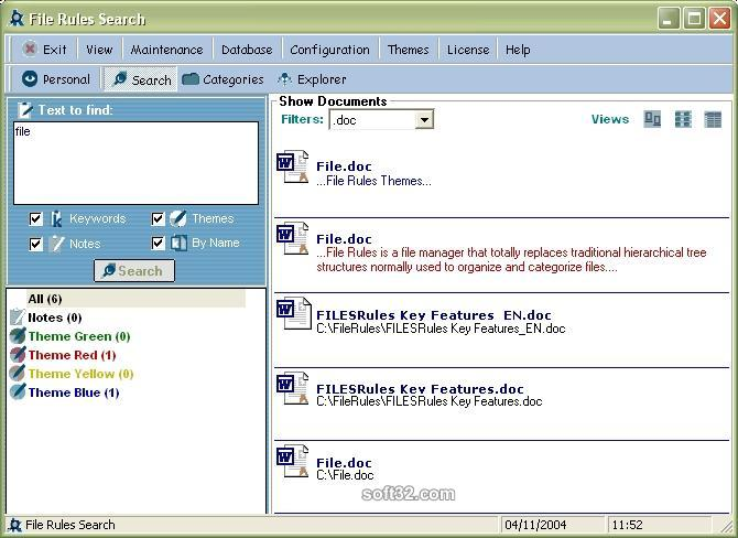 File Rules Screenshot