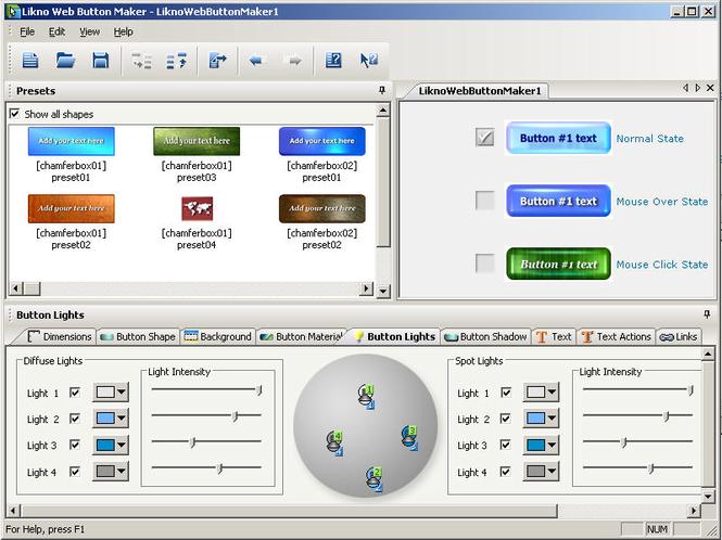 Likno Web Button Maker Screenshot
