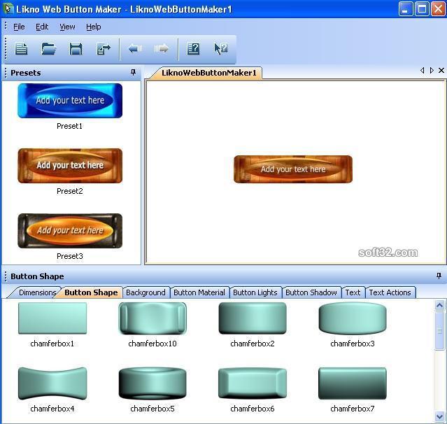 Likno Web Button Maker Screenshot 2