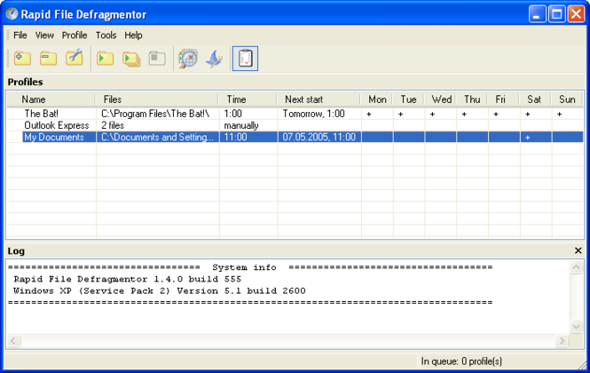 Rapid File Defragmentor Screenshot