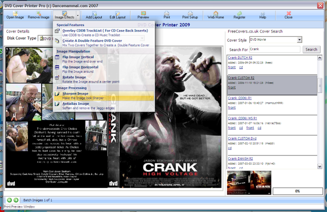 DVDPrint Screenshot