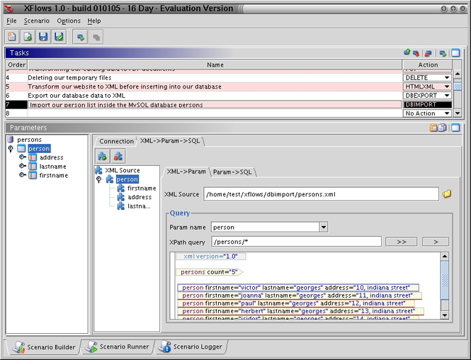XFlows (for Windows/java VM) Screenshot