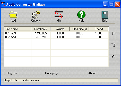 Audio Converter Mixer Screenshot
