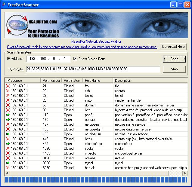 FreePortScanner Screenshot 1