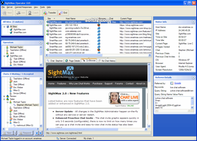 SightMax Live Chat Screenshot 3