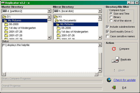 Directory Replicator Screenshot