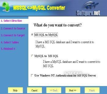 MSSQL<->MySQL Converter Screenshot