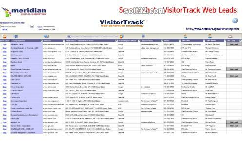 VisitorTrack (Lead Generation Technology) Screenshot