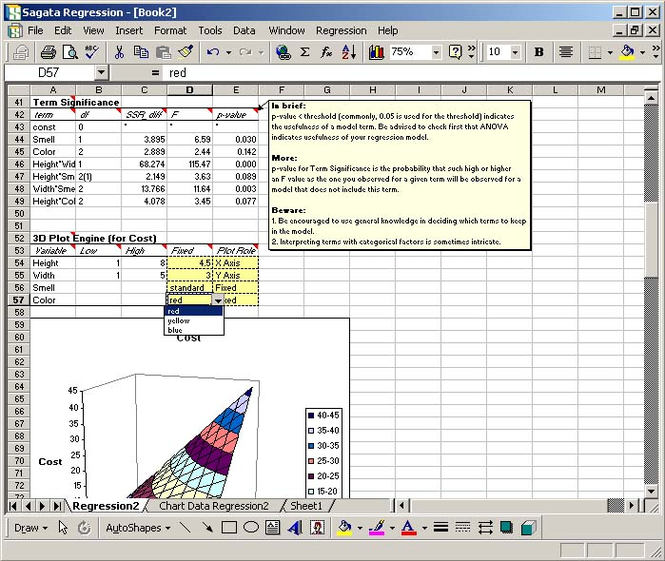 Sagata Regression Pro Screenshot