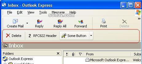Demo toolbar for Outlook Express Screenshot 3
