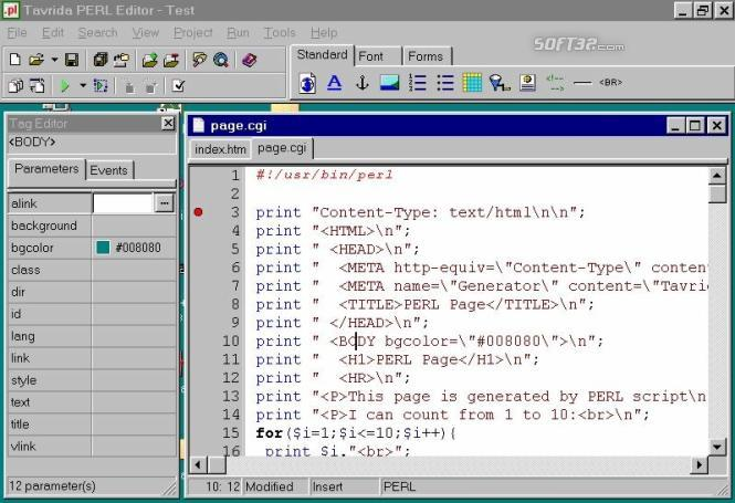 Tavrida PERL Editor Screenshot