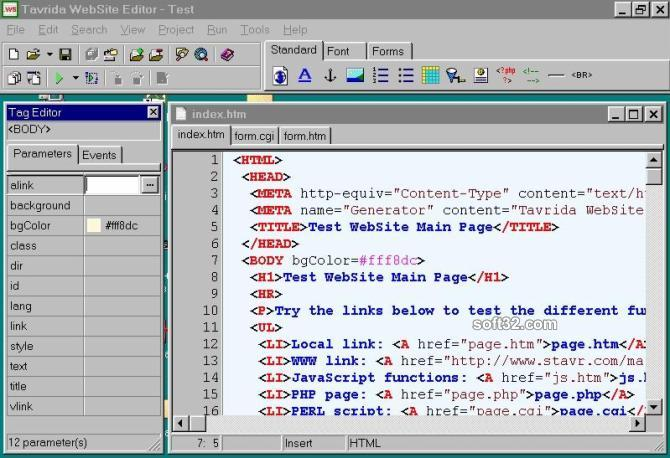Tavrida WebSite Editor Screenshot