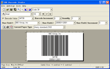 IBE Barcode Studio Screenshot