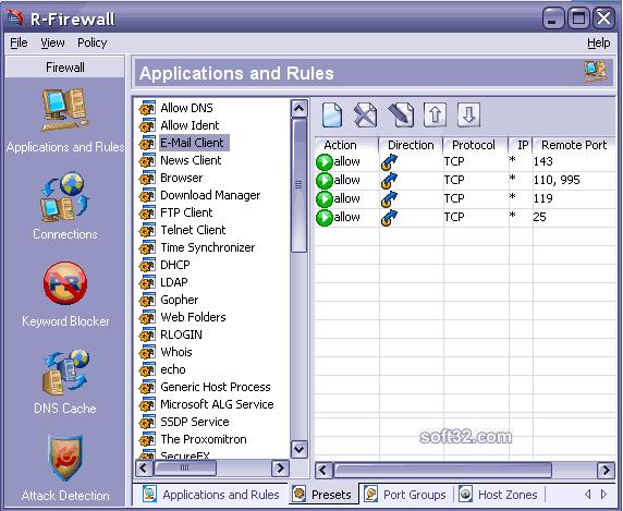 R-Firewall Screenshot 2