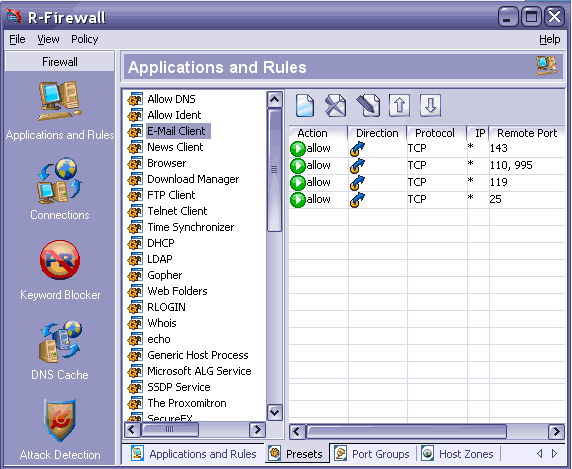 R-Firewall Screenshot