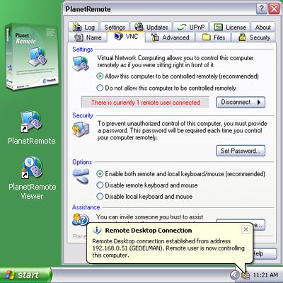 PlanetRemote Standard Screenshot